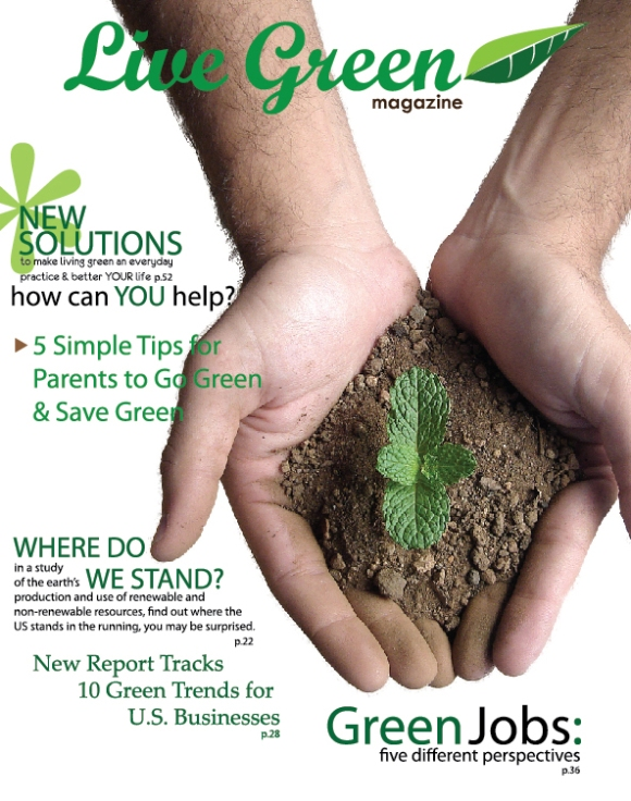 Living Green Magazine Cover